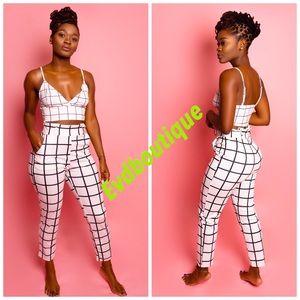 Evdgirls 2 piece pants set